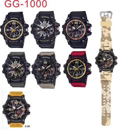 Wholesale Factory Functions - High quality Factory product men's sports G1000 luxury watches men watch LED chronograph all function work waterproof with original box