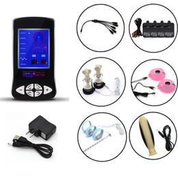 Wholesale body penis - DIY Electric Shock Kits Penis Ring Catheter Nipple Pads Nipple Sucker For Men Electro Body Massage Medical Toys