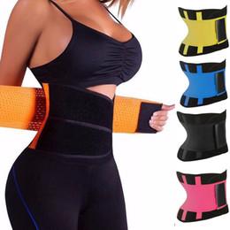 Corsés deportivos online-7styles Body Shaper mujeres Cintura Cincher Trimmer Tummy Sport Cinturón Adelgazante Para Hombres Mujeres Corsé Postparto Fajas FFA867