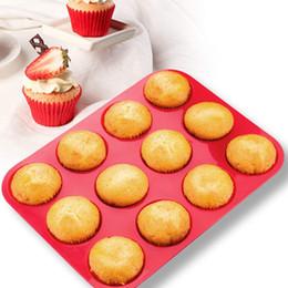 queque muffin panelas Desconto Cup Silicone Muffin Pan Cupcake Assadeira Pan Non-Stick Durable Eco - Amigável Silicone Bolo Mold Redonda Mini Muffin Pan Form