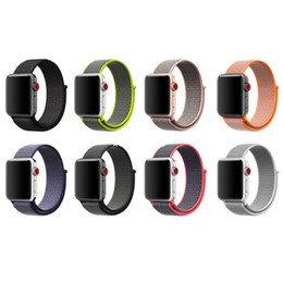 Wholesale Loop Bands - Sport Woven Nylon loop strap For Apple Watch 1 2 3 series watch band 38mm 42mm