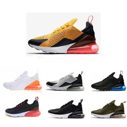 Wholesale fashion knit fabrics - 2018 Flair 270 Fashion Men Women Casual Shoes Running Sports Shoes Triple Blakc Hot Punch Teal 11 Colors Knitting 270s Comfortable C