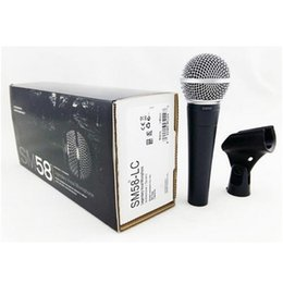 Cantar micrófono online-SM 58 58LC con conexión de cable de micrófono de karaoke vocal micrófono dinámico profesional para SM58LC Studio Sing DJ Mixer Micrófono de audio