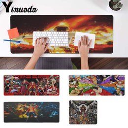 Um jogo de anime on-line-Yinuoda Engraçado One Piece Anime Teclado Gaming MousePads Super Grande Grande Jogo Gamer Teclado Gaming Mat