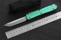 Cuchillo de cocina de campamento online-Envío gratis, MIKER VG-10 / D2 cuchilla de aluminio supervivencia para acampar al aire libre EDC caza herramienta táctica cena cuchillo de cocina