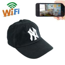 caméra portable Promotion 32 GB HD 1080 P IP Caméra Wearable Wifi Hat Caméra Mini Réseau Casquette Caméscope Portable DV Camcoder Nounou Cam Pour IOS / Android PC iPad