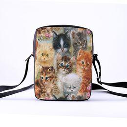 Wholesale diy cat bag - CROWDALE Customize Women Crossbody Bags DIY painting cat series for Kid Female bag Children Messenger Bag Bolsos Mujer 23x17x5cm