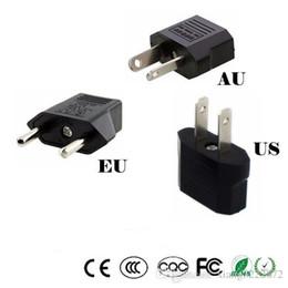 Wholesale Power Euro - Universal US EU AU Plug USA Euro Europe Travel Wall AC Power Charger Outlet Adapter Converter 2 Round Socket Input Pin