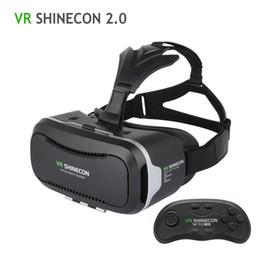 Wholesale Helmet Google - VR Shinecon 2.0 3D Glasses Virtual Reality Smartphone Headset Google Cardboard VR BOX Helmet for Iphone Android 4.7-6' Phone