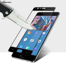 2019 oneplus zubehör OnePlus 3 gehärtetes Glas original OnePlus 3T Displayschutzfolie 3T Glas Vollabdeckung weiß schwarz Zubehör 5,5 Zoll günstig oneplus zubehör