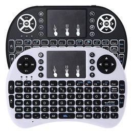tv pad android Promotion Rii i8 Mini Clavier Sans Fil Air Souris Télécommande 2.4GHz Sans Fil Pavé Tactile Pour PC Pad Android TV Box
