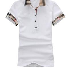 d27a02b15c106 Camicie da donna estate T Moda Slim cotone manica corta T-shirt casual  reticolato Abbigliamento donna Magliette Donna Abbigliamento Taglie forti