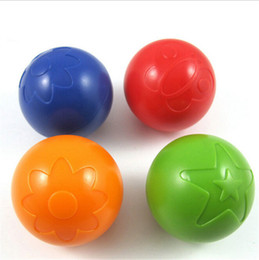 Wholesale Kids Jump Ball - designer hand rustling bounce grip plastic ball baby jump grab bell ball rattles kids educational toy children gift 1Pcs