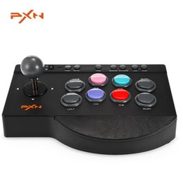 Wholesale Arcade Games Pc - PXN - 0082 Arcade fightstick Game Joystick Wired USB Rocker Gampad Gaming Handle Controllers for PC,PS4,PS3,Xbox one