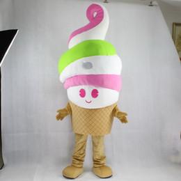 Wholesale Ice Mascot - High quality EVA Material ice cream Mascot Costumes Cartoon Apparel Birthday party Masquerade WS883