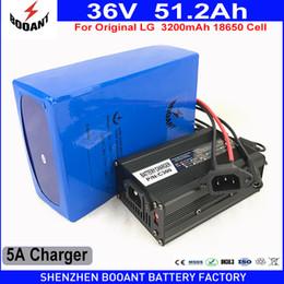 Wholesale 36v li ion battery charger - BOOANT EU US Duty Free 36V 51.2AH 2000W Original LG 18650 E-Bike Li-ion Battery pack for Bafang Motor With 5A Charger 70A BMS