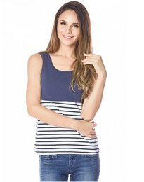 Wholesale Clothes Support - Maternity Clothes Pregnant Women Nursing Sleeveless Top T-shirt Breastfeeding Tank Clothes Support Drop Shipping