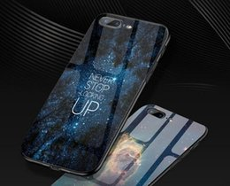 Wholesale Custom Iphone Paint - 2018 new creative original painting tempered glass mobile phone shell Apple 8 plus glass protective cover 6s custom 7 all inclusive