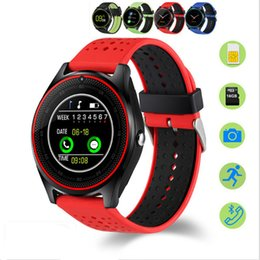 Wholesale Recording Package - V9 Smart Watches SIM Intelligent Mobile Phone Watch Can Record the Sleep State Smart Watch with Package Free DHL