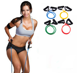 Wholesale Elastic Bands For Fitness - Fitness Resistance Bands Yoga Resistance Rope Exerciese Tubes Elastic Exercise Bands for Women Girl Yoga Pilates Workout