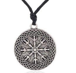 Lemegeton Awe of Tray Metal Coin Necklace Colgante de plata antigua Jewelry Religious Charm Necklace para unisex Mens Jewellery desde fabricantes