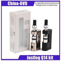 Wholesale e power - 100% Original Justfog Q14 Compact Kit with 1.8ml Liquid Capacity Tank E cigarette Starter Kit Powered By 900mah Battery