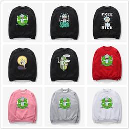 Wholesale zipper couple hoodies - Couples Men Women sweater Unisex Classic Cartoon Scientist Rick and Morty Print Hoodies Sweater Sweatshirt Jacket Pullover Top