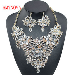 Wholesale Purple Costume Jewelry - 2018 Bridal Gift Nigerian Woman Wedding African Beads Jewelry Set Fashion Dubai Silver Color Jewelry for Wholesale Costume Design