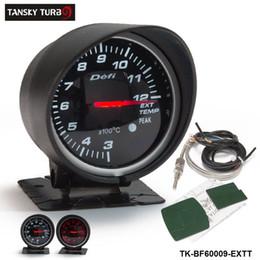 цветовой калибр Скидка Tansky Universal Автомобили / Автосчетчик / Датчик Defi 60 мм Температура выхлопных газов EGT GAUGE Черная скоба, оригинальная цветная коробка TK-BF60009-EXTT