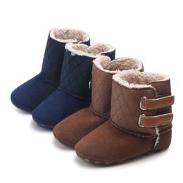 botas de invierno para niños pequeños. Rebajas Botas de bebé de moda Forro de felpa de invierno Zapatos de niño para niños Unisex antideslizantes Botas para bebés para niñas Niños Enrejado Calzado suave