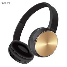 mse cellulare Sconti SMILYOU MS-K2 Noise Reduction Cuffie Bluetooth senza fili auricolare stereo in metallo con microfono per telefoni cellulari