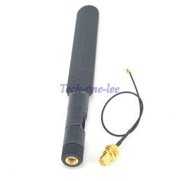 Wholesale Mini Sma - wifi Antenna Omni dual-band 5dbi Aerial RP SMA male + Mini 1.13 PCI U.FL to RP SMA Female WiFi Pigtail Cable 17cm