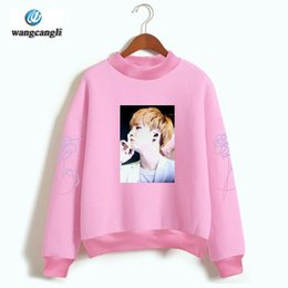 Wholesale Bts Album - BTS Love Yourself Capless Women men Hoodies Sweatshirts Bangtan boys outwear Hip Hop Sweatshirt Album DNA Song Kpop Clothes 4xl