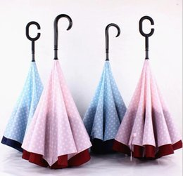 2019 подставка для дождя Новый 4 цвета творческий автомобили обратный складной зонтик двойной слой защиты от дождя C-ручка перевернутый ветрозащитный компактный самостоятельной стоя дешево подставка для дождя