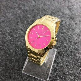 Wholesale Michael Gold Watches - Luxury Famous Designer Women men Rhinestone watches fashion luxury Brand Dress Michael ladies watch for Free Shipping