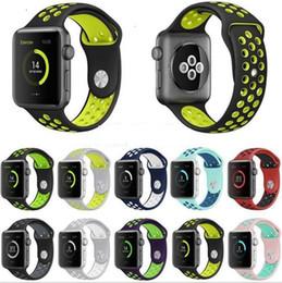 полосы замещения для гибкой гитары Скидка 25 цветов Силиконовая Резина Apple Watch Ремешок для Часов Замена Запястье Силиконовый Спортивный Ремешок Smart Soft ТПУ Ремень SmartWatch Для iWatch