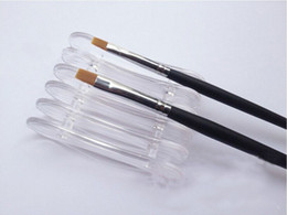 Подставка для щетки онлайн-Wholesale- 1pcs Nail Art  Design Craft Acrylic UV Gel Brush Pen Rest Holder Stand electric styling Tools nail polish