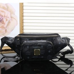 Wholesale polyester leather - New arrival women designer waist bag luxury M brand sport travel bag good quality leather bags