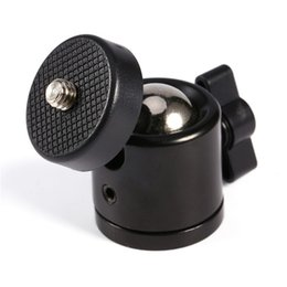 "Wholesale Dslr Mounts - Black Color 360 Degree Mini Tripod Ball Head Ballhead 1 4""Screw Mount Stand DSLR DV Camera DSLR Camera Accessories"