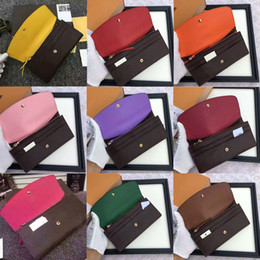 Wholesale halloween cards free - 2018 free shpping Wholesale red bottoms lady long wallet multicolor designer coin purse Card holder original box women classic zipper pocket