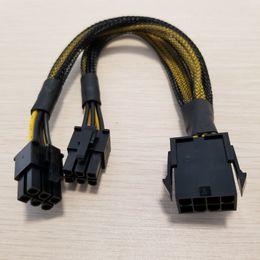 2019 cabo de alimentação 18awg 5 pçs / lote PC CPU 8pin para Dual PCI-E PCIe 6pin cabo divisor de energia cabo de chumbo 18AWG desconto cabo de alimentação 18awg