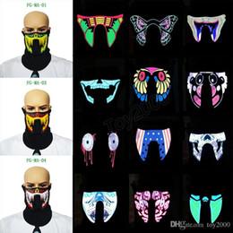 Hot 27 conception Flash LED musique Masque Avec Son Actif pour Danse Équitation Patinage EL Party Voix contrôle masque enfants jouets ? partir de fabricateur