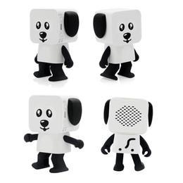 Haut-parleurs bluetooth robot en Ligne-2018 Mini Super Cut Smart Danse Robot Chien Bluetooth haut-parleur Multi portable Bluetooth Haut-parleurs Nouvel An De Noël Cadeau Pour Enfant Enfants 30pc
