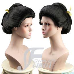 Canada New Black Geisha perruque pleine perruques plaque cheveux Anime perruque Offre