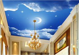 2019 luxus tapete weiß 3D Decke Wallpaper benutzerdefinierte blauen Himmel und weiße Wolken 3D Decke Heimwerker Foto 3D Wallpaper Wohnzimmer Luxus Wallpaper günstig luxus tapete weiß
