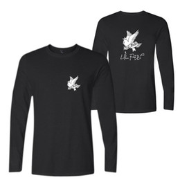 ropa de roca masculina Rebajas R.I.P. Lil Peep Rock and Roll Hombres Música Camisetas Algodón de manga larga O-cuello Camiseta Hip Hop Rap Hombres Camiseta Male Clothing 4XL