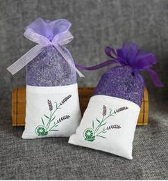 Wholesale Dried Lavender Flower - Purple Cotton Organza Lavender Sachet Bag DIY Dried Flower Sweet Bursa Wardrobe Mouldproof Gift Bag wen5035