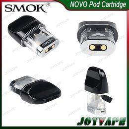 SMOK NOVO Pods Cartridges 2ml Cartuccia Pod di ricambio per NOVO Kit con bocchello Flatter Side-Refilling Design 100% originale da punta di cera all'ingrosso di cotone fornitori
