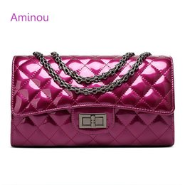 Aminou Luxury Patent Leather Women Handbags Brand Designer Quilted Chain  Shoulder Bag Crossbody Bag sac a main Femme Bolsa 14e73ea80a1a2