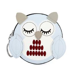 Wholesale kids owl purses - HNXZXB Owl coin purses women wallets small cute cartoon kawaii card holder key money bags for girls ladies purse kids children